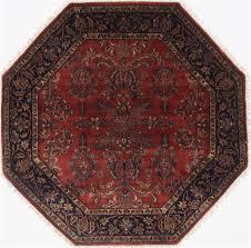 Indian Area Rug Indian Saroogh Octagon 5 To 6 Ft Wool Carpet 23412