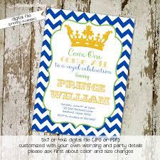 birthday party invitation royal celebration prince baby boy shower