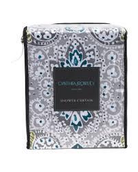 Gray And Teal Shower Curtain Bath T J Maxx