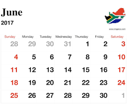 june 2017 calendar south africa printable with holidays template