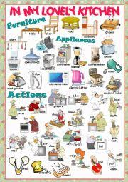 kitchen furniture names worksheets house worksheets page 11