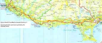 Map Of Cyprus Kambos The Villa To Rent In Cyprus