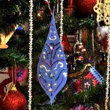 drop craft foam tree ornament