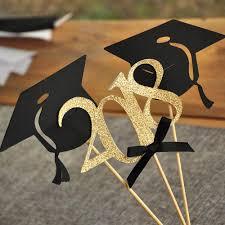 graduation cap centerpieces graduation party decoration black and gold centerpiece for
