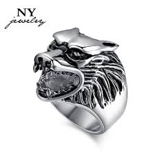 cool mens rings best fashion stainless steel ring for men wolf hammer animal