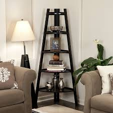 Corner Ladder Bookcase Danya B Five Tier Corner Ladder Display Bookshelf