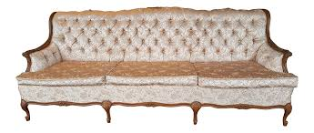 pink brocade french provincial couch chairish