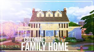 colonial house the sims 4 speed build colonial house