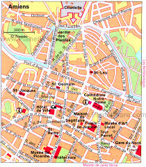 map of rouen amiens map and amiens satellite image