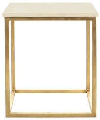 vintage gold side table side table marble top and brass legs with antique gold finish
