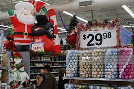 customers shop decorations for sale at walmart