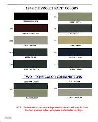 chevrolet paint codes 1946 1954