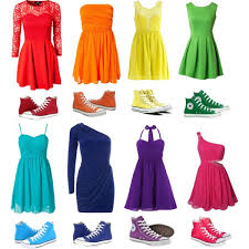 converse with a dress rainbowfied polyvore