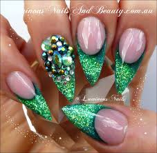 mint green nail art designs