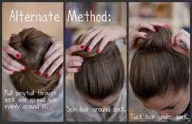 sock hair bun sock bun tutorial hair foto