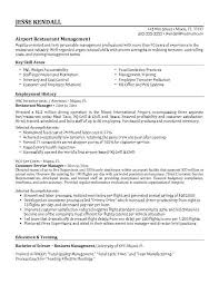 Restaurant Manager Resume Template Restaurant Manager Resume Objective The Best Letter Sle