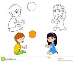 children coloring page boy and stock vector image 90924734