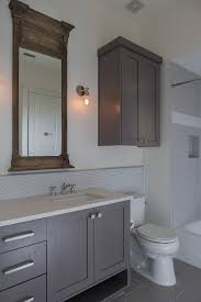 cabinet over toilet with mirror bathroom transitional with
