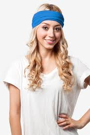 blue headband royal blue stretchy headband stretch headbands scarves