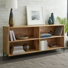 bookshelves with storage industrial modular bookcase west elm