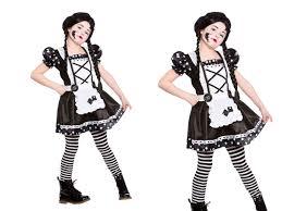 broken china doll girls halloween rag doll fancy dress costume