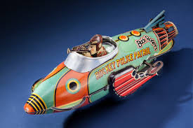 toy space ship buck rogers rocket police patrol ship national