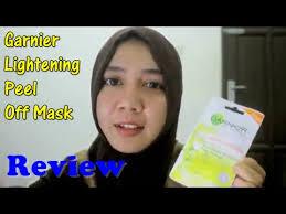 Masker Garnier Lemon review of garnier lightening peel mask hello harbi