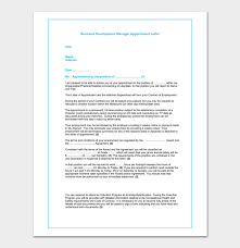 appointment letter manager business appointment letter template 13 samples u0026 formats