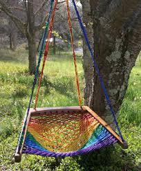 oakweave hanging chair rainbow