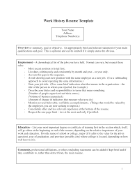 Fake Work Experience Resume 100 Work History Resume Template Office Manager And Office