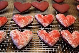 happy valentine u0027s day red velvet sugar cookie hearts with cream