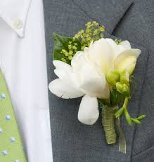 Wedding Boutonniere Simplicity Boutonniere White Freesia Boutonniere Wedding