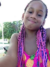 pink and blue mixed box braids perfect for little girls kids