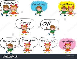 get well soon kid vector kids talk stock vector 2018 537241192