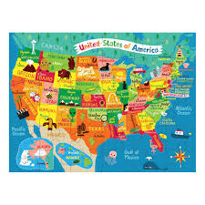 Labeled Map Of Us Map Of U S A Puzzle To Go Mudpuppy