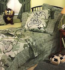 Looney Tunes Crib Bedding Bedding Sets Looney Tunes Camouflagebedskirt Dust Rufflestwin