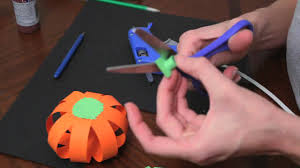 where can i buy cheap halloween decorations how to make paper pumpkins for fall autumn and halloween youtube