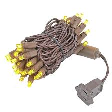 brown wire wide angle yellow gold 50 bulb led lights