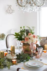 thanksgiving table setting decor and centerpiece shabbyfufu