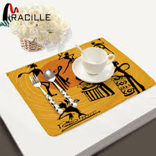 miracille 2 4 6 pcs cotton linen dining table placemats coaster