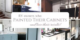 can you spray nuvo cabinet paint rv owners who painted their cabinets rv inspiration