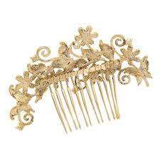 hair comb butterfly flower rhinestone bridal hairpins side combs