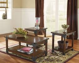 furniture rustic weathered pine coffee table walnut stain coffee