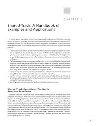 chapter 4 shared track a handbook of examples and applications