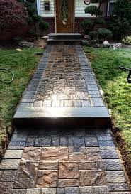 Brock Paver Base Installation by Paver Walkway Bluestone Stoop Cambridge Pavers With Armortec