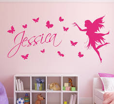 Custom Nursery Wall Decals Butterfly Customized Children Name With Nursery Wall Decals