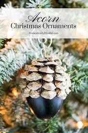 faux acorn christmas tree ornaments