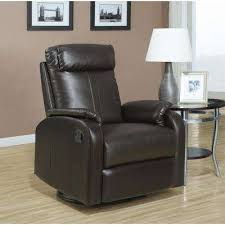 Leather Swivel Recliner Recliner Chairs Living Room Furniture The Home Depot