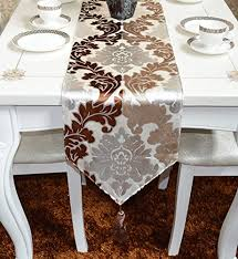 Coffee Table Runners Table Runner With Chocolate U0026 Coffee Color Silver Plating Cut Pile
