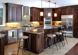 types of kitchen islands types of kitchen islands types of wood kitchen cabinets brown